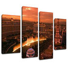 MSC246 Las Vegas Bellagio Sunset Canvas Wall Art Multi Panel Split Picture Print