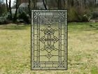 "Stunning Tiffany Style stained glass Clear Beveled window panel, 20.5"" x 34.25"""