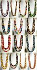 ETHNIC INSPIRED: TRIBAL WOMENS BRIGHT LARGE CHUNKY WOODEN BEAD LONG NECKLACE