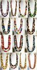ETHNIC INSPIRED: WOMENS BRIGHT LONG LARGE CHUNKY NECKLACE GIFT, CHOOSE STYLE