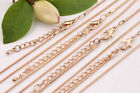 2/10PCS Gold Extended Snake Link Chain Lobster Clasp Necklace Making 480X1mm