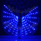 LED isis wings glow show parade belly dance cabaret club wear prop solid blue
