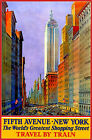 Poster / Leinwandbild New York travel by Train