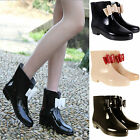 LADIES WOMENS FLAT FESTIVAL JELLY RAIN WELLIES WELLINGTON ANKLE BOOTS SHOES SIZE