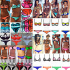 Sexy Womens Bandage Neoprene Triangle Bikini Push-up Padded Swimsuit Swimwear R2