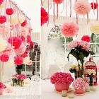"New Tissue Paper Pom Poms Flower Ball Home Wedding Outdoor Decor Shower 6""8""10"""