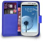 Premium Leather Flip Wallet Case Cover For Samsung Galaxy S3 Mini + Screen Guard