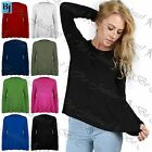 Women Ladies Plain Full Sleeve Stretchy Flared A Line Swing Party T Shirt Top