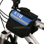 Bicycle Cycling Top Tube Saddle Bag Frame Front Pannier Bag Rack Double Side O3T