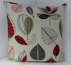 SINGLE PILLOW COVERS 60s STYLE RED BROWN BLACK ORANGE RETRO SPOTS OASIS
