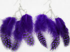 JF291 Wholesale Lots Feather Earrings Silver Tone Chain Dangle You Pick Quantity