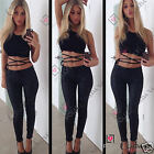 Womens Summer Cut Out Tie Backless Crop Beach Bralet Bra Going Out Vest Cami Top