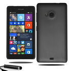 For Microsoft Lumia 535 Armour Hard Shell Case Back Cover + Screen + Stylus