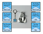 CHRISTMAS GIFT PERSONALISED DAD GRANDAD GODFATHER UNCLE GRANDA KEY RING MULTI