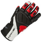 Spada Burnout Leather Sport Motorcycle Gloves Red-Black-White