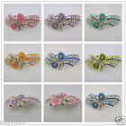 New Antique Vintage Rhinestone Bowknot Metal Hair Clip Barrette Jewelry Hot 1pc