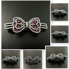 Antique Vintage Crystal Rhinestone Alloy Bowknot Hair Cilp Barrette Jewelry