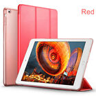 Smart TRANSLUCENT Lightweight Leather Hard Back 3 Fold Cover Case for iPad Air 2
