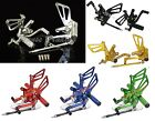 Rearsets Rest Foot Pegs Fit SUZUKI GSXR 600 750 2000-2005 GSXR1000 2001-2004 K1