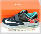 Nike KD VII 7 GS Flight Charcoal Black Dove Green 669942-005 US 4~7Y Youth Kids