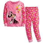 Disney Store Minnie Mouse Pink Apples PJ Pals 2pc Long Sleeves Pajama NEW