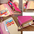 Fashion Pu Leather CellPhone Card Holder Coin Bag Long Purse Wallet Handbag Case