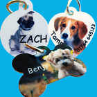 Pet Dog, Cat ID Collar Tag -Personalised - YOUR PHOTO & Text -High QUALITY!