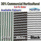 2m & 4m wide 30% Shade Cloth Horticultural Grade Shadecloth 90gsm - Cut To Order