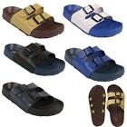 Mens Buckle Mules Sandals Flip Flop  Beach Hospital Casual Shower Summer Slipper