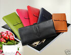 Women's Soft Genuine Leather Wallet Lady's Clutch Bag  Card Holders Black Purse