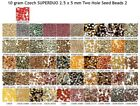 10 gram or 24 gram Czech SUPERDUO 2.5 x 5 mm Two Hole Seed Beads 2