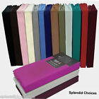 FLAT SHEETS NON IRON PERCALE SINGLE DOUBLE KING PILLOW COVERS ** TOP QUALITY  **