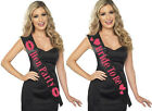 HEN NIGHT PARTY BRIDE TO BE BLACK & HOT PINK SASH BY SMIFFYS