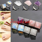 Amethyst Clear Rose Quartz Opalite Gemstone Pyramid Adjustable Finger Rings us8