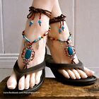 Indy - Bohemian Gypsy Hippie Barefoot Sandals  foot jewelry