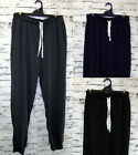 Mens Casual Sports Cuff Pants Trackies (0285) Grey Black Navy Sz S M L XL XXL
