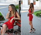 French Connection Red Spotlight Ribbon Knits Bandage Bodycon Mini Party Dress 8