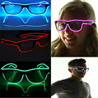 Rave Party Light Up El Wire Glow Shades Bar Sunglasses Music-Box Eyewear Glasses