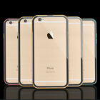 Aluminum Ultra-thin Metal Case Clear Back Cover Skin for iPhone 5 6 Plus 4.7 5.5