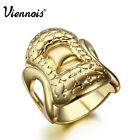 Viennois Vintage New Gold Plated Band Ring Jewelry for Women sz 7 8
