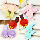 2pc Cute Lovely Baby Girl Child Student Bowknot Hat Cap Resin Hair Clip Hairpin