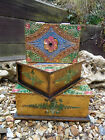 FairTrade Indonesian Hand Carved Made Wooden Flower Jewellery Trinket Holder Box