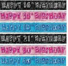 SFARZO STRISCIONE LAMINATO 2.7m Parete Di Lamina Happy Birthday 1st-100th