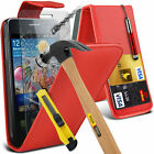 PU Leather Flip Case Cover & Tempered Glass For Samsung Galaxy S2 i9100