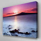 C016 Milky Water Sunset Canvas Wall Art Ready to Hang Picture Print