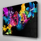 C105 Abstract Flowers Canvas Wall Art Ready to Hang Picture Print