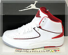 Nike Air Jordan 2 II Retro OG White Varsity Red Black 385475-102 US 8~12 AJ2 1 3
