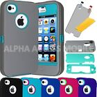 new iphone 4s white - For Apple iPhone 4 4S ShockProof Hard Protective Hybrid Rugged Hard Case Cover