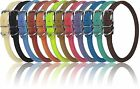 leather collar - Genuine Leather Collar Rolled Round Soft Padded Dogline 12 Colors Made in Europe