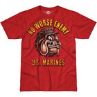 7.62 DESIGN USMC NO WORSE ENEMY T-SHIRT MILITARY BATTLESPACE TOP SCARLET HEATHER